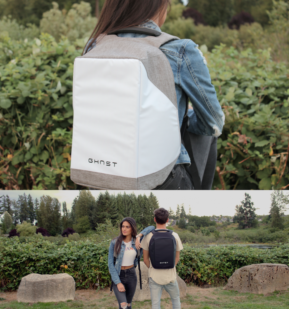 ghost theft-proof, waterproof, tracking, unisex backpack