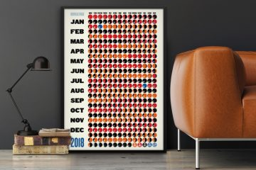 design moon phase calendar