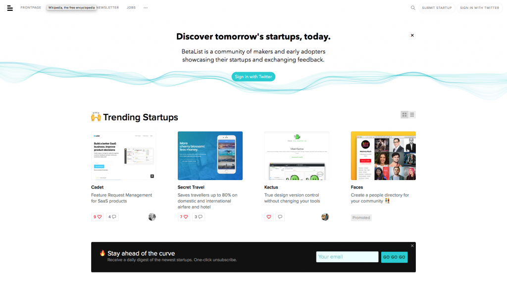 betalist screenshot