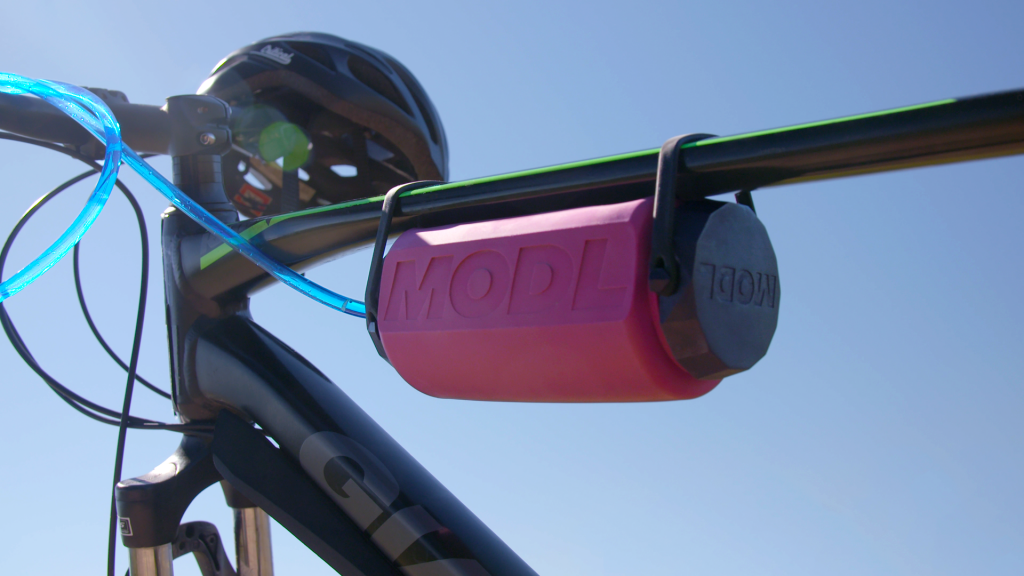 modl water bottle on bike