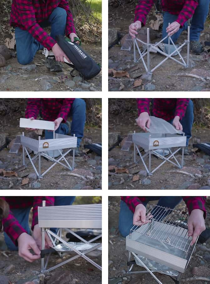 portable fire pit assembly