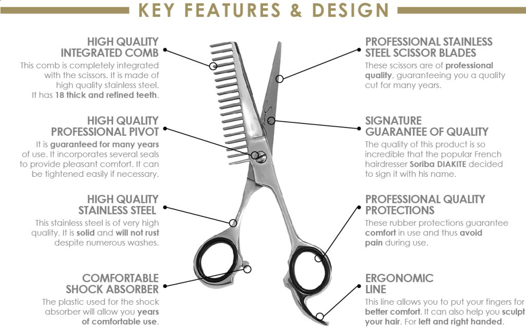 soriba comb scissor combination features