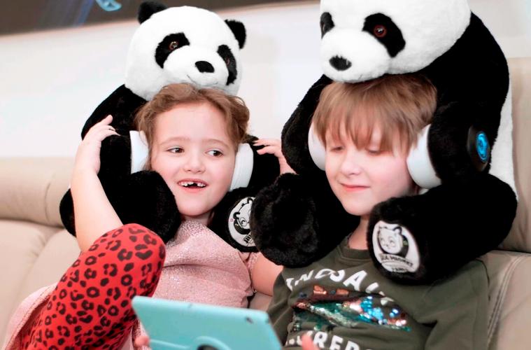 hugphones panda bear headphones review