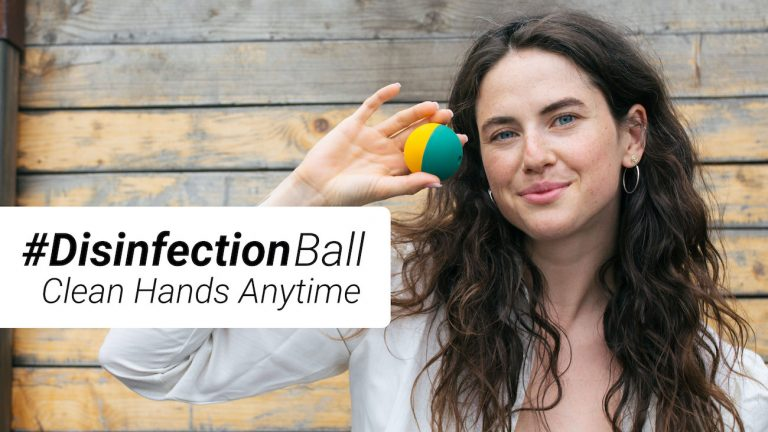 disinfectionball kickstarter hand sanitizer review