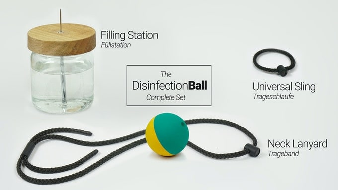 The DisinfectionBall complete kit