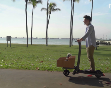 mimo c1 transforming electric cargo scooter